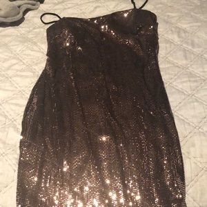 Windsor mini sequin copper dress worn once !